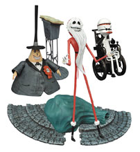 Image: Nightmare Before Christmas Select Series 2 Action Figure: Santa Jack  - Diamond Select Toys LLC