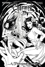 Image: Charmed [2017] #4 (Sanapo b&w incentive cover - 04041) (10-copy)  [2017] - Dynamite
