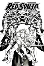 Image: Red Sonja Vol. 04 #6 (McKone b&w incentive cover - 06071) (20-copy) - Dynamite