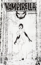Image: Vampirella Vol. 04 #4 (Tan b&w incentive cover - 04061) (20-copy) - Dynamite