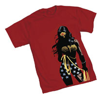 Image: Wonder Woman Women's T-Shirt: Shadows  (S) - Graphitti Designs