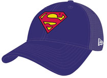 Image: Superman Symbol Washed Trucker New Era Snap Back Cap  - New Era Cap Co