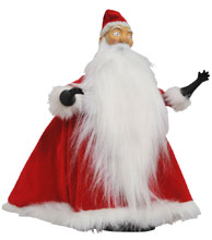 Image: Nightmare Before Christmas Deluxe Doll: Santa Jack  (Cloth) - Diamond Select Toys LLC