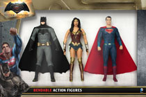 Image: Batman vs. Superman Bendable Figure: 3-Piece Set  (5.5-inch) - N J Croce Company