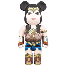 Image: Batman vs. Superman Bearbrick: Wonder Woman  (400 Bea) - Medicom Toy Corporation