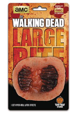Image: Walking Dead TV: Large Walker Bite Costume Effects Appliance  - Trick Or Treat Studios, LLC