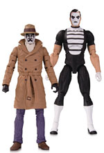 Image: Doomsday Clock Action Figure 2-Pack: Rorschach & Mime  - DC Comics