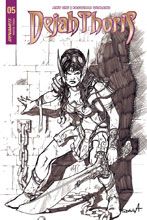 Image: Dejah Thoris Vol. 02 #5 (cover E incentive - Davila B&W) (20-copy) - Dynamite