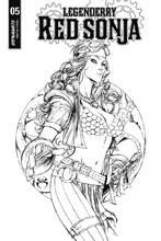 Image: Legenderry Red Sonja Vol. 02 #5 (cover B incentive - Benitez B&W) (10-copy)  [2018] - Dynamite