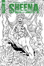 Image: Sheena: Queen of the Jungle #10 (cover E incentive - Sanapo B&W) (10-copy) - Dynamite