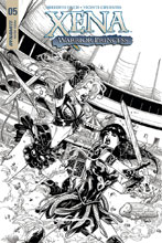 Image: Xena: Warrior Princess Vol. 04 #5 (cover D incentive - Cifuentes B&W) (20-copy) - Dynamite