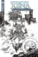 Image: Xena: Warrior Princess Vol. 04 #5 (cover E incentive - Davila B&W) (25-copy) - Dynamite