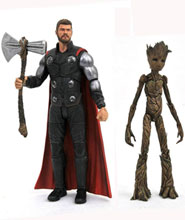 Image: Marvel Select Action Figure: Avengers Infinity War - Thor & Groot  - Diamond Select Toys LLC