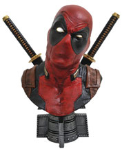 Image: Deadpool 1/2 Scale Resin Bust  - Diamond Select Toys LLC