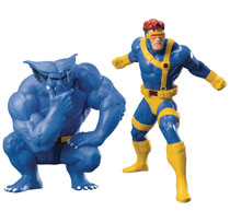 Image: Marvel ArtFX+ Two-Pack Statue: Cyclops & Beast  - Koto Inc.