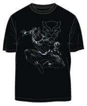Image: Black Panther T-Shirt: Jungle Lord [Black]  (XL) - Mighty Fine