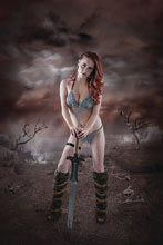 Image: Red Sonja: Birth of the She-Devil #1 (variant Cosplay Virgin cover) (signed [Gold]) - Dynamite