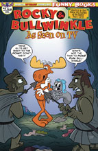 Image: Rocky & Bullwinkle: Seen on TV #1 (main cover - Ropp) - American Mythology Productions