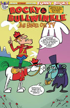 Image: Rocky & Bullwinkle: Seen on TV #1 (variant cover - Dudley Doright) - American Mythology Productions