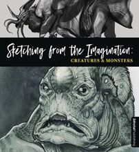 Image: Sketching from the Imagination: Creatures & Monsters SC  - 3D Total Publishing