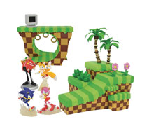 Image: Sonic Playset Diorama PVC Assortment  - Diamond Select Toys LLC