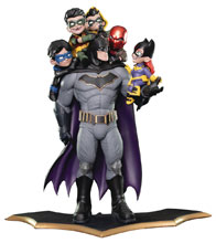 Image: Batman Q-Master Diorama: Batman Family  - Quantum Mechanix Inc