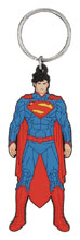 Image: DC Heroes Soft Touch PVC Key Ring: Superman  - Monogram Products