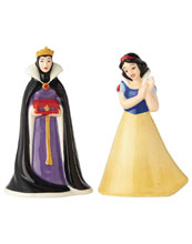 Image: Disney Salt & Pepper Shakers: Snow White and Evil Queen  - Enesco Corporation