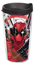 Image: Marvel Iconic Tumbler  (w/Lid): Deadpool (16-ounce) - Tervis Tumbler Co.