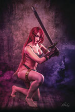 Image: Red Sonja: Age of Chaos #6 (incentive 1:30 cover - Cosplay virgin) - Dynamite