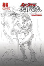 Image: Red Sonja: Age of Chaos #6 (incentive 1:40 cover - Parrillo B&W) - Dynamite