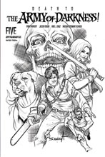 Image: Death to the Army of Darkness #5 (incentive 1:25 cover - Davila B&W)  [2020] - Dynamite