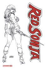 Image: Red Sonja Vol. 05 #17 (incentive 1:20 cover - Linsner B&W) - Dynamite