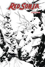 Image: Red Sonja Vol. 05 #17 (incentive 1:30 cover - Lee B&W) - Dynamite