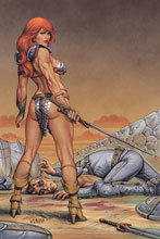Image: Red Sonja #17 (variant cover - Linsner virgin) - Dynamite