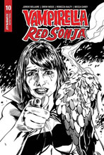Image: Vampirella / Red Sonja #10 (incentive 1:15 cover - Mooney B&W Homage)  [2020] - Dynamite