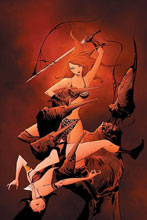 Image: Vampirella / Red Sonja #10 (variant cover - Lee virgin) - Dynamite