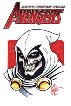 Image: Avengers #1 (DFE remarked cover - Taskmaster Haeser Sketch) (DFE signed - ) - Dynamic Forces