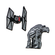 Image: Star Wars Lapel Pin Set: AT-AT and Tie Fighter  - Sales One LLC