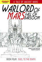 Image: Warlord of Mars: Fall of Barsoom #4 (15-copy Jusko B&W incentive cover) (v15) - Dynamite