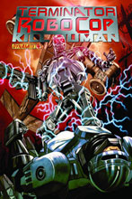 Image: Terminator / Robocop: Kill Human #4 (15-copy B&W incentive cover) (v15) - D. E./Dynamite Entertainment