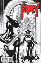 Image: Miss Fury #7 (50-copy incentive cover - Chen B&W) - Dynamite
