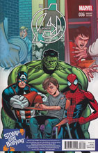 Image: Avengers #36 (variant cover - Sean Chen Stomp Out Bullying) - Marvel Comics