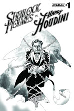 Image: Holmes vs. Houdini #1 (variant incentive cover - Cassaday) (10-copy) - Dynamite