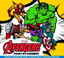 Image: Marvel Avengers Paint-by-Numbers: 5 Classic Scenes  - Thunder Bay Press