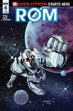 Image: Rom #4 (subscription cover - Veregge) - IDW Publishing