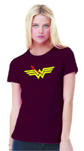 Image: Watchmen T-Shirt: Wonder Woman Symbol  (L) - Graphitti Designs