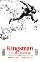 Image: Kingsman: The Red Diamond #2 (cover B - B&W)  [2017] - Image Comics