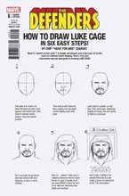 Image: Defenders #6 (Legacy) (variant cover - Zdarsky How to Draw) - Marvel Comics