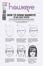 Image: Hawkeye #11 (variant cover - Zdarsky How to Draw) - Marvel Comics